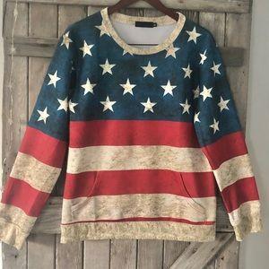 Tops - 🇺🇸 American Flag Sweatshirt